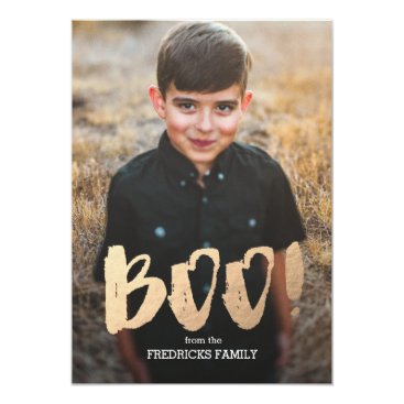 Halloween Themed Boo! Halloween Photo Card