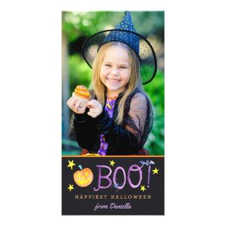BOO | Halloween Photo Card | Dark