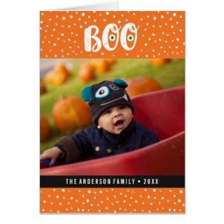 Boo Halloween Photo Greeting Card