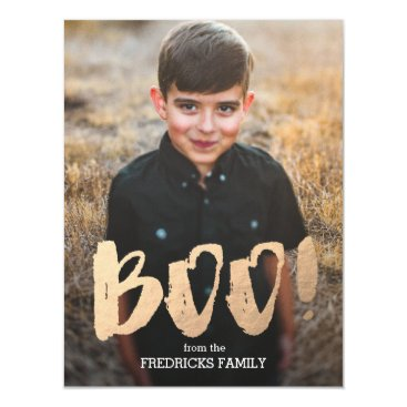 Halloween Themed Boo! Halloween Photo Magnetic Card