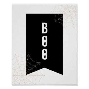 "Halloween Themed ""Boo"" Halloween Poster   8x10"
