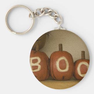 Boo Halloween pumpkin keychain