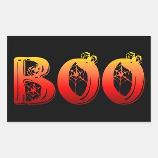 Boo Halloween Rectangular Sticker