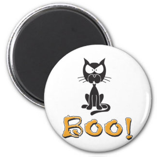 Boo! Halloween Scary Cat Magnet