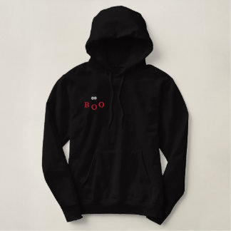 BOO Halloween Spider - Embroidered Embroidered Hoodie