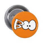 Boo Halloween Spider & Eyes Button