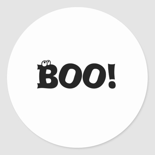 Boo Halloween Stickers