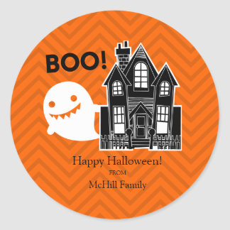Boo! Halloween Trick or Treat Label
