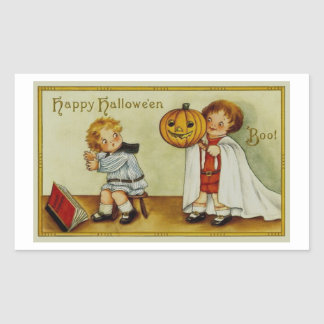 Boo! Halloween Vintage Rectangular Sticker