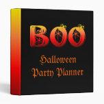 Boo Halloween Vinyl Binders