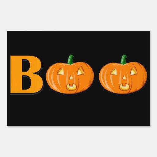 Boo halloween yard sign zazzle