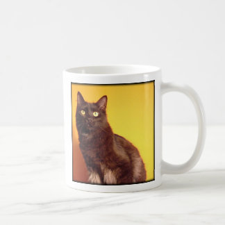 Boo - Happiness is the love of an adopted cat! Mug