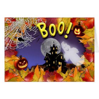 Boo! Happy Halloween Card