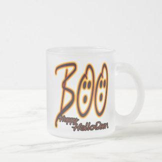 Boo Happy Halloween Frosted Glass Coffee Mug