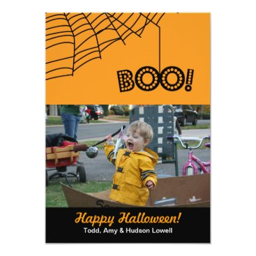 Halloween Themed BOO! Happy Halloween Holiday Photo Card