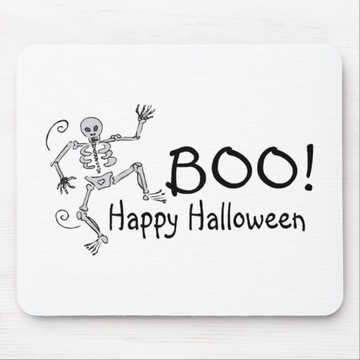 Boo Happy Halloween Mouse Pad