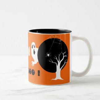 Boo ! Happy Halloween Two-Tone Coffee Mug