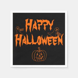 Boo Happy Halloween Paper Napkin