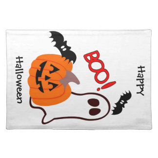 Boo!  Happy Halloween! Place Mats