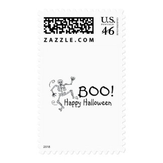 Boo Happy Halloween Postage Stamp