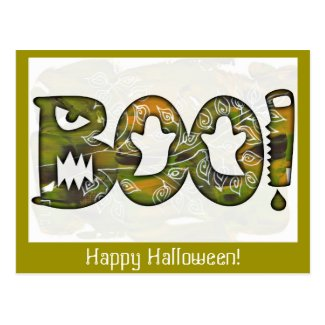 BOO Happy Halloween - postcard or invitation