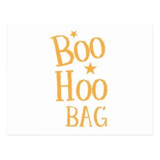 Boo hoo BAG! funny Halloween bag design Postcard