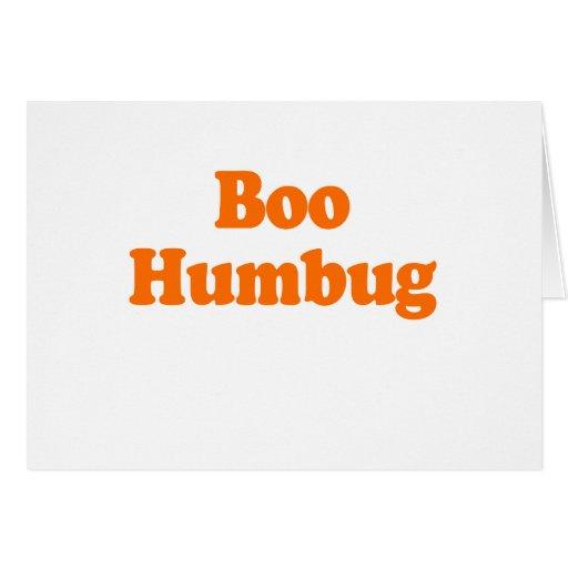 BOO HUMBUG GREETING CARD