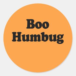Boo Humbug Round Stickers