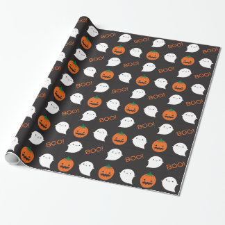 Boo! It's Halloween Gift Wrap Paper