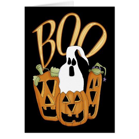 Boo Jack-o-lantern and Ghost Card