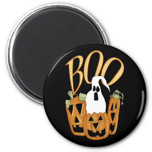Boo Jack-o-lantern and Ghost Magnets