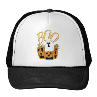 Boo Jack-o-lantern and Ghost Mesh Hat