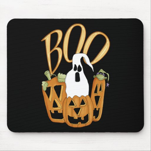 Boo Jack-o-lantern and Ghost Mouse Pad