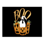 Boo Jack-o-lantern and Ghost Post Cards