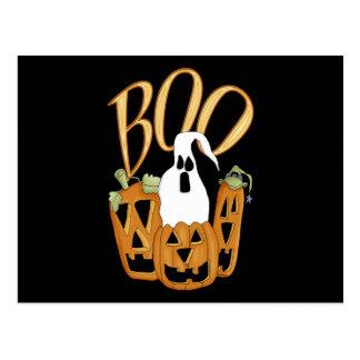 Boo Jack-o-lantern and Ghost Postcard