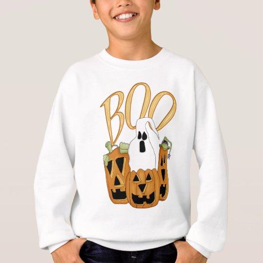 Boo Jack-o-lantern and Ghost Sweatshirt