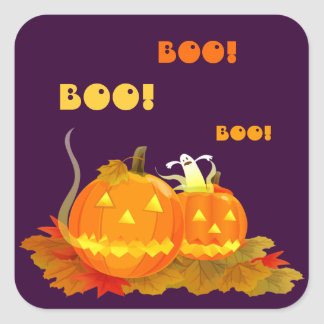 Boo! Jack O'lantern Halloween Stickers