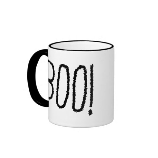 Boo! Jagged Black Letters. Halloween. Coffee Mug