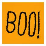 Boo! Jagged Black Letters. Halloween. Invitation