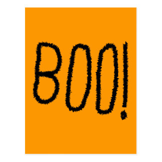 Boo! Jagged Black Letters. Halloween. Postcard