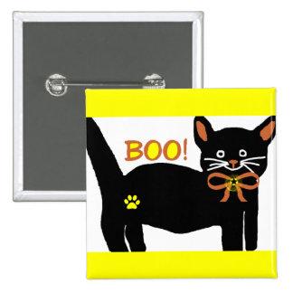 Boo kitty button