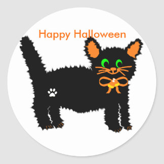 Boo kitty  Happy Halloween stickers
