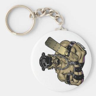 Boo Leather Daddy Key Chain! Basic Round Button Keychain