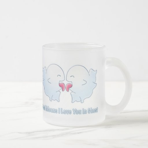 Boo Means I Love You in Ghost 10 Oz Frosted Glass Coffee Mug