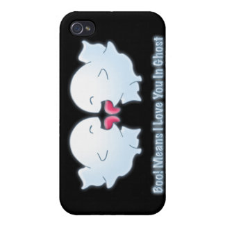 Boo Means I Love You in Ghost Case For iPhone 4