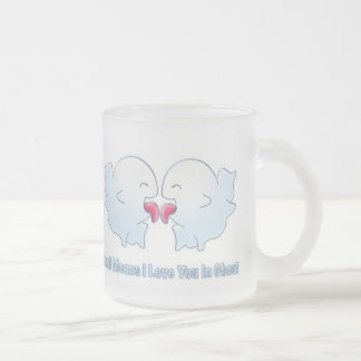 Boo Means I Love You in Ghost Frosted Glass Coffee Mug