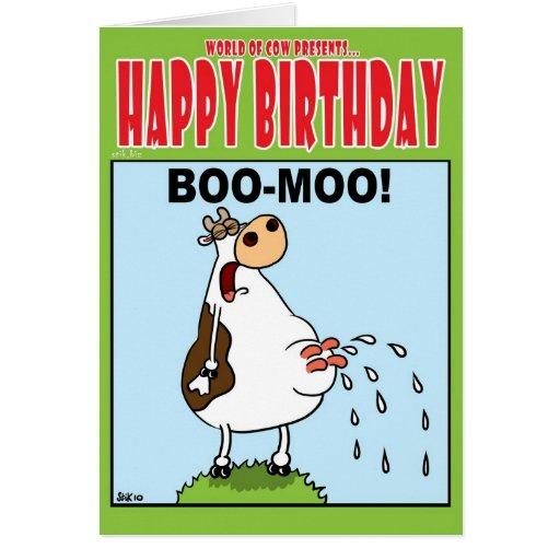 BOO MOO! GREETING CARD