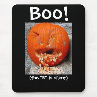 Boo! Mousepad - the B is silent Mousepads