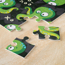 Boo Octopus Green Kids Clothing & Décor Jigsaw Puzzle
