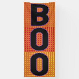 Boo Orange Polka Dot Halloween Banner